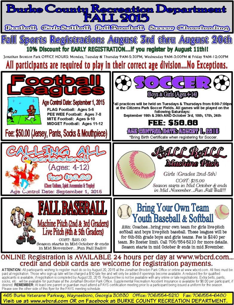 2015 Fall Sports Flyer, Front Page in JPEG