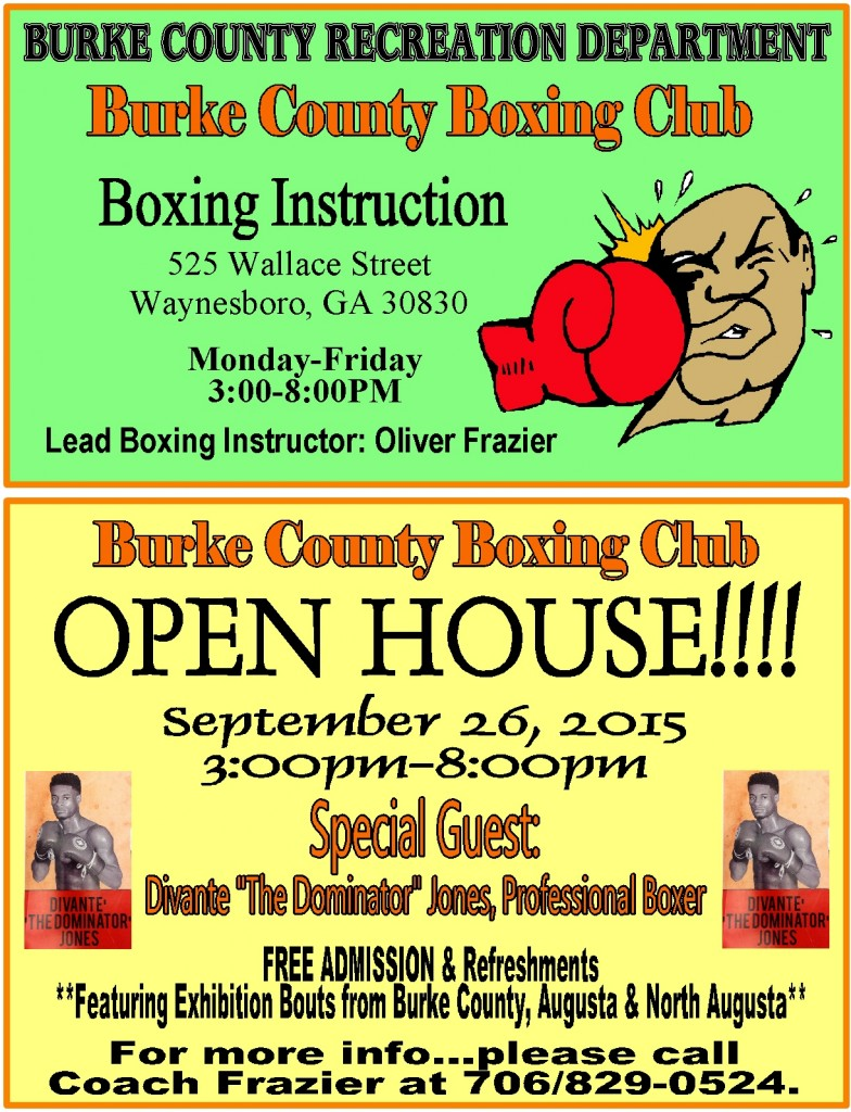 2015 Boxing Club and Fitness Flyer
